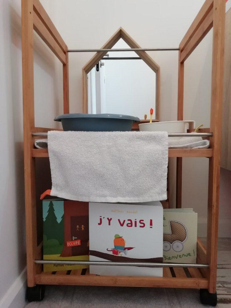 Amenagement montessori salle de bain lavabo DIY | ICy déco