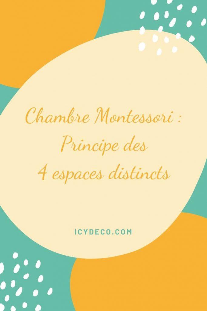 Chambre Montessori 4 espaces | ICy déco