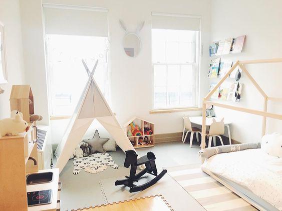 Chambre Montessori espaces distincts