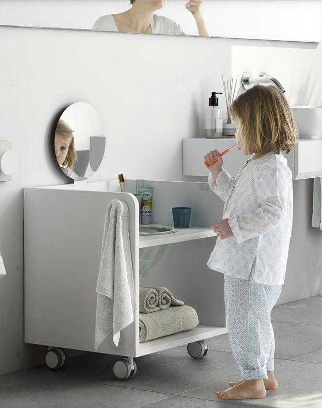 Gagner en autonomie avec un meuble vasque sur-mesure pour les enfants