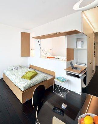 Un appartement de 46m² avec des cloisons modulables permettant 5 couchages