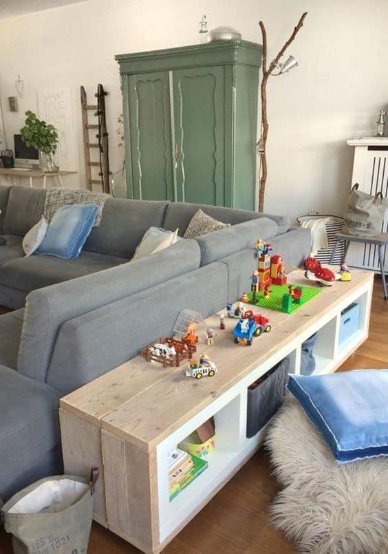 Hacking Kallax pour une étagère à jouets dans le salon