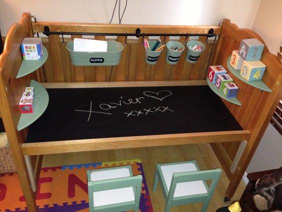 Quand le lit à barreau devient un bureau Montessori friendly