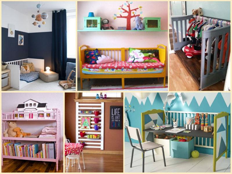 Idées pour recycler un lit bébé en mobilier Montessori
