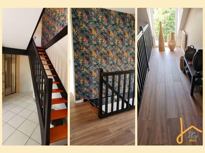 Projet client : une cage d'escalier moderne et graphique | ICy déco