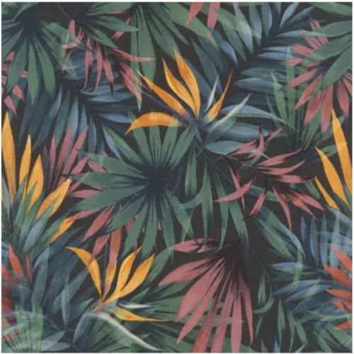 Un papier peint tropical qui apporte de la profondeur